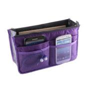 Gleader Women Travel Makeup Insert Handbag Organiser Purse Large Liner Organiser Bag