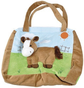 Extraordinarily beautiful PLÜSCHTASCHE in 3D look with PONY Motif-New (40185) Nursery Bag Canvas Nursery Changing Bag