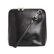 Mini Vera Pelle genuine leather crossbody handbag