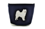 Samoyed, grey bag, Shoulder bag with dog, Handbag, Pouch, High quality, Pet Lover, Purse, For Ladies, Women, Tote bag