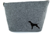 Pointer, grey bag, Shoulder bag with dog, Handbag, Pouch, High quality, Pet Lover, Purse, For Ladies, Women, Tote bag