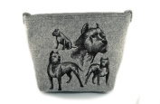 American Staffordshire Terrier, grey bag, Shoulder bag with dog, Handbag, Pouch, High quality, Pet Lover, Purse, For Ladies, Women, Tote bag