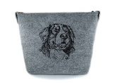 Bernese Mountain Dog, grey bag, Shoulder bag with dog, Handbag, Pouch, High quality, Pet Lover, Purse, For Ladies, Women, Tote bag