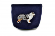 Australian Shepherd, grey bag, Shoulder bag with dog, Handbag, Pouch, High quality, Pet Lover, Purse, For Ladies, Women, Tote bag