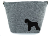 Black Russian Terrier, grey bag, Shoulder bag with dog, Handbag, Pouch, High quality, Pet Lover, Purse, For Ladies, Women, Tote bag