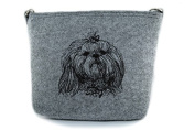 Shih Tzu, grey bag, Shoulder bag with dog, Handbag, Pouch, High quality, Pet Lover, Purse, For Ladies, Women, Tote bag
