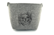 Chihuahua, grey bag, Shoulder bag with dog, Handbag, Pouch, High quality, Pet Lover, Purse, For Ladies, Women, Tote bag