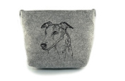 Whippet, grey bag, Shoulder bag with dog, Handbag, Pouch, High quality, Pet Lover, Purse, For Ladies, Women, Tote bag