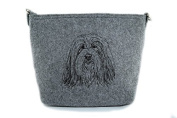 Bearded Collie, grey bag, Shoulder bag with dog, Handbag, Pouch, High quality, Pet Lover, Purse, For Ladies, Women, Tote bag