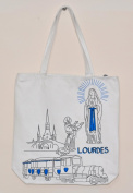 Shopping Bag- Lourdes Sanctuary Shopping Bag in White