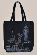 Shopping Bag- Lourdes Sanctuary Shopping Bag in Black