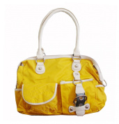 Zoe Women's Shoulder Bag Nylon Handbag Sunshine Yellow / Cream