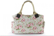 VINTAGE FLORAL ROSE TOTE BAG BY MILLIE