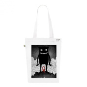Tote Bag White Fashion numbered Canvas Print Organic Cotton-Monster