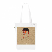 Tote Bag White Fashion numbered Canvas Print Organic Cotton David Bowie Ziggy