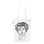 Tote Bag White Fashion numbered Canvas Print Organic Cotton-Mister