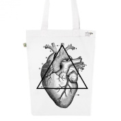 Tote Bag White Fashion numbered Canvas Print Organic Cotton-My Heart