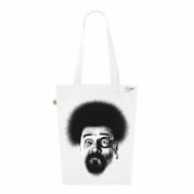 Tote Bag White Fashion numbered Canvas Print Organic Cotton-Jackson