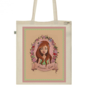 Tote Bag-Ecru-numbered Canvas Print Organic Cotton-Romantic love