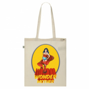 Tote Bag-Ecru-numbered Canvas Print Organic Cotton-Mother Wonder