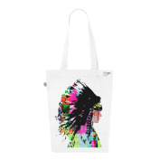 Tote Bag White Fashion numbered Canvas Print Organic Cotton-Indian