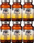 FSC Vitamin B3 Niacinamide 500mg 60 Capsules x 6 Packs
