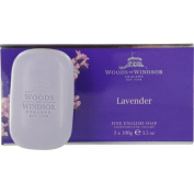 WOODS OF WINDSOR LAVENDER by Woods of Windsor SOAP 3 X 100ml WOODS OF WINDSOR LAVENDER by Woods of