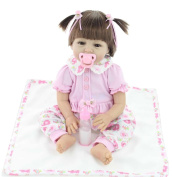 NPK 22IN/55cm Reborn Girl Dolls Real Life Like Soft Silicone Newborn Baby Toy