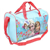 Brand New Disney Frozen Elsa and Anna Holdall Bag Sports Bag Blue and Red