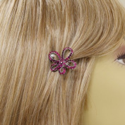 """""""Picasso"""" Simulated Crystal Flower Barrette"""