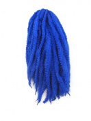 CyberloxShop® Marley Braid Afro Kinky Hair Blue