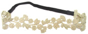 Gold Floral Leaf Lace Headband Festival Bridal Boho Vintage 1920s Great Gatsby f86 *EXCLUSIVELY SOLD BY STARCROSSED BEAUTY* Flapper Art Deco Grecian Roman Hair Vine Daisy Floral