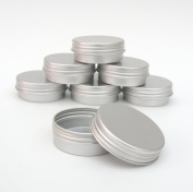 10x 10ml Aluminium Lip Balm Pots 10ml Capacity Empty Small Mini Cosmetic/Lip Gloss/Nail Art Pots Tins Jars