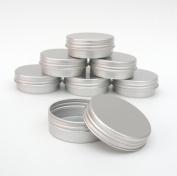 10x 10ml Aluminium Lip Balm Pots 10ml Capacity Empty Small Mini Cosmetic/Lip Gloss/Nail Art Pots Tins Jars
