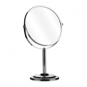 Loupe Swivel Mirror Chrome Magnifying Option Contemporary Design Attractive Look.