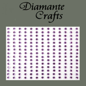 195 x 3mm Lilac Diamante Self Adhesive Rhinestone Body Vajazzle Gems - created exclusively for Diamante Crafts