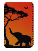 Elephant Sunset' fits (Kindle Paperwhite, Voyage, New Touch) (Kobo Glo, Touch, Aura). Neoprene Case, Cover, Pouch Sleeve Holder.