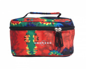 Obersee Kids Toiletry and Accessory Train Case Bag, Tie Dye