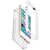 Case-Mate Naked Tough Case for iPhone 5/5S - Clear/White Bumper