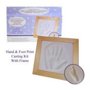 Baby Handprint & Footprint Plaster Casting Kit - Great Gift Set!