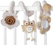 BabyBuds Owl Spiral Plush