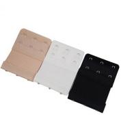 Outdoortips 3pcs Women Bra 2x3 Hooks Extension Strap Extender Soft Flexible Comfortable