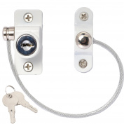 2 x Window Restrictor Security Cable Child & Baby Safety Locks - Keyed Alike