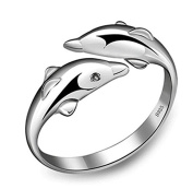 Fashion Jewellery 925 Sterling Silver Dolphin Rings for Women Engagement Gift