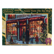 Falcon de Luxe - Santa Visits The Toy Shop Christmas Jigsaw Puzzle