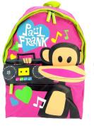 PAUL FRANK JULIUS MONKEY SCHOOL BACKPACK RUCKSACK BAG - PINK I LOVE MUSIC
