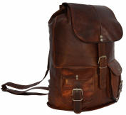 Gusti Leder nature Genuine Leather Backpack Rucksack Vintage Sling Bag City Shoulder Bag Leisure Travelling Bag Unisex Brown M31