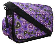 Brand New Girls Womens Love Hearts Uni School College Messenger Satchel Shoulder Bag