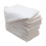 GHP 24012x12 White Microfiber Cloths Bulk Towel Cleaning