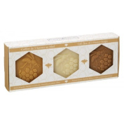 3 Honey Soap 100ml (Propolis, Beeswax, Linden Acacia) in a Box